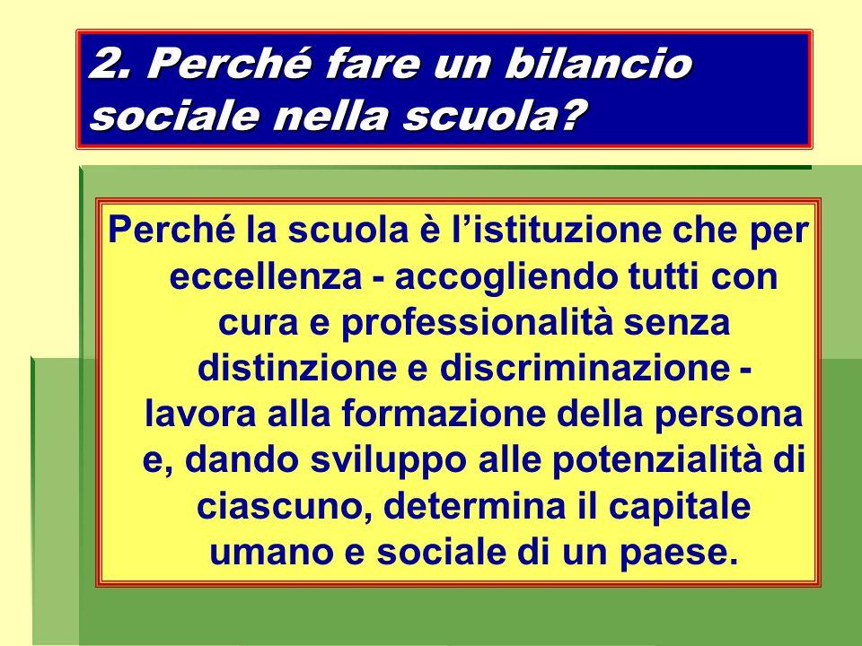 2. Perché fare un bilancio sociale nella scuola