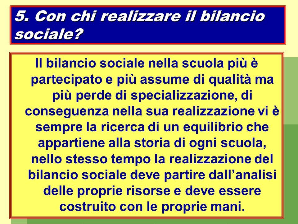 5. Con chi realizzare il bilancio sociale