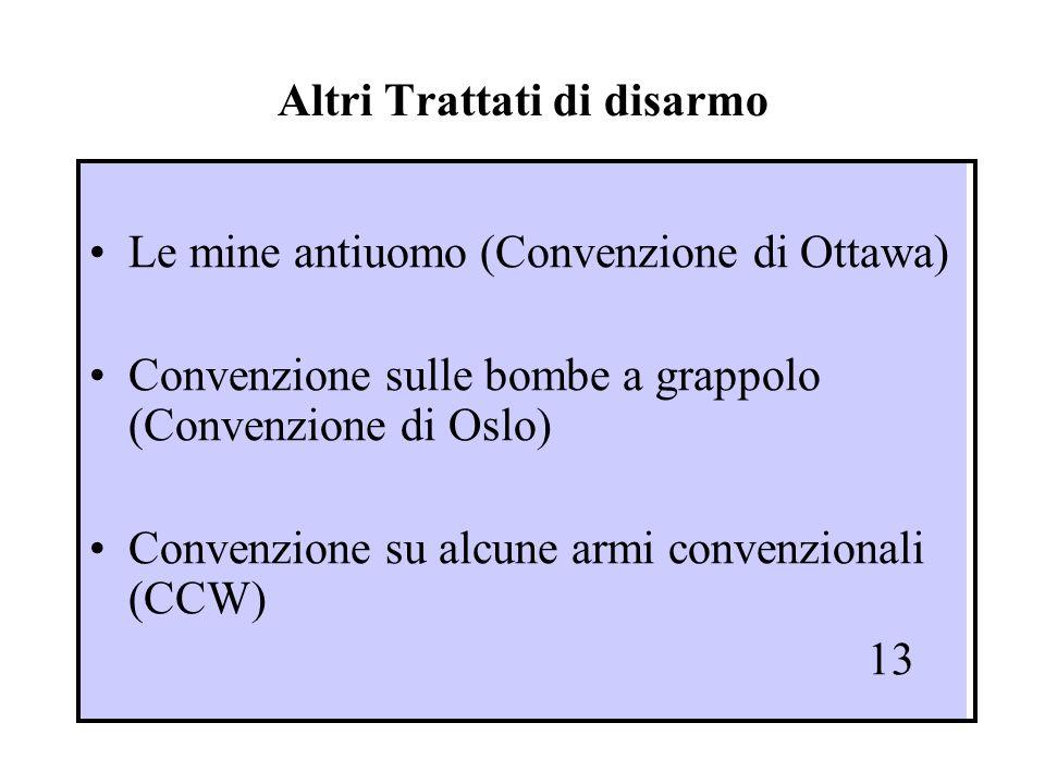 Altri Trattati di disarmo