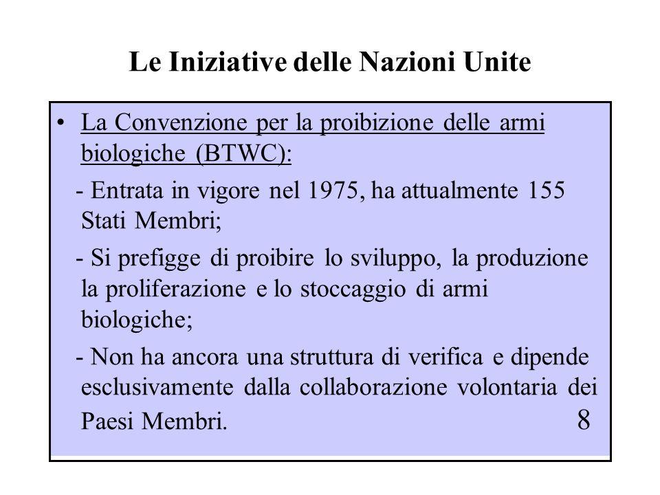 Le Iniziative delle Nazioni Unite