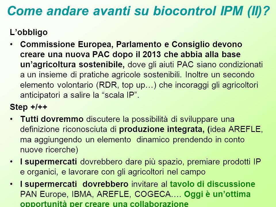 Come andare avanti su biocontrol IPM (II)