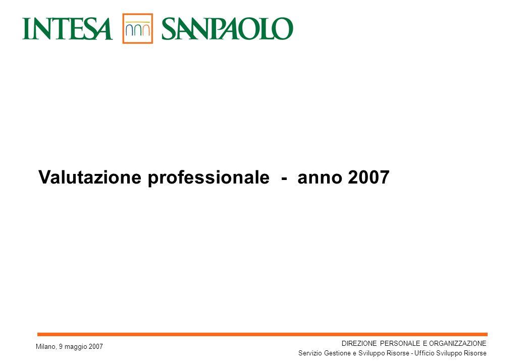 Valutazione professionale - anno 2007