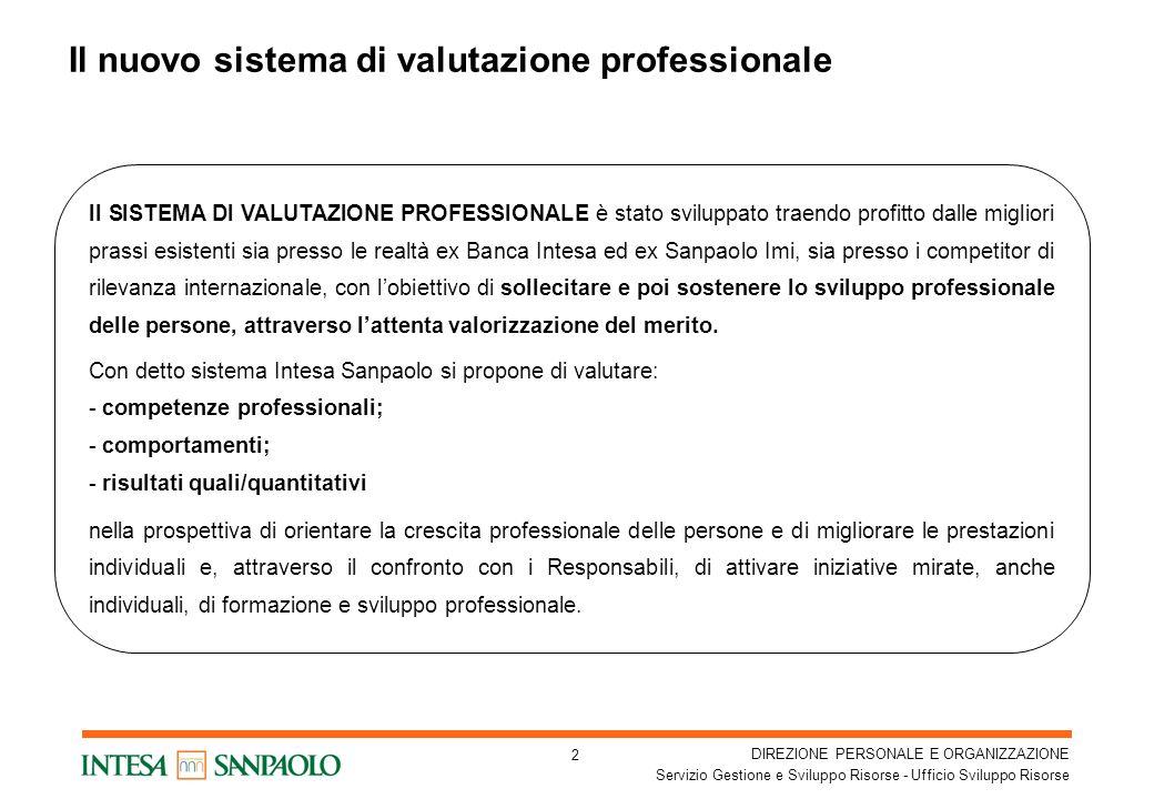 Il nuovo sistema di valutazione professionale