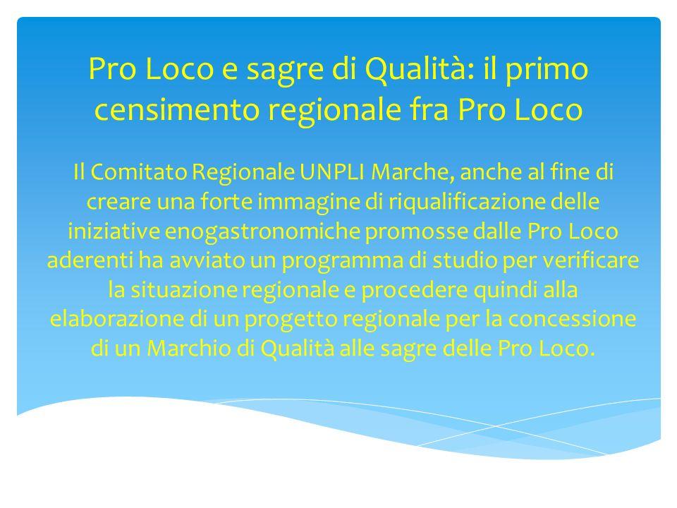 Pro Loco e sagre di Qualità: il primo censimento regionale fra Pro Loco