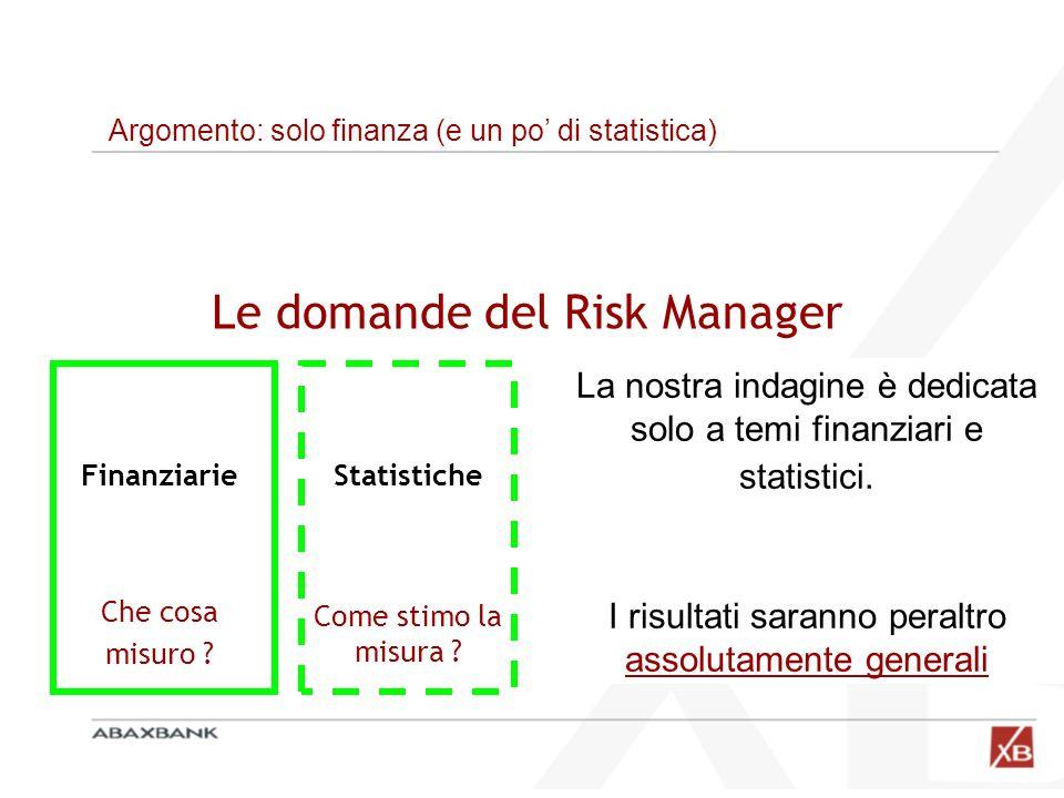 Le domande del Risk Manager