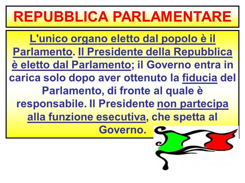 Lo stato ente che esercita un potere superiore sovranita for Repubblica parlamentare italiana