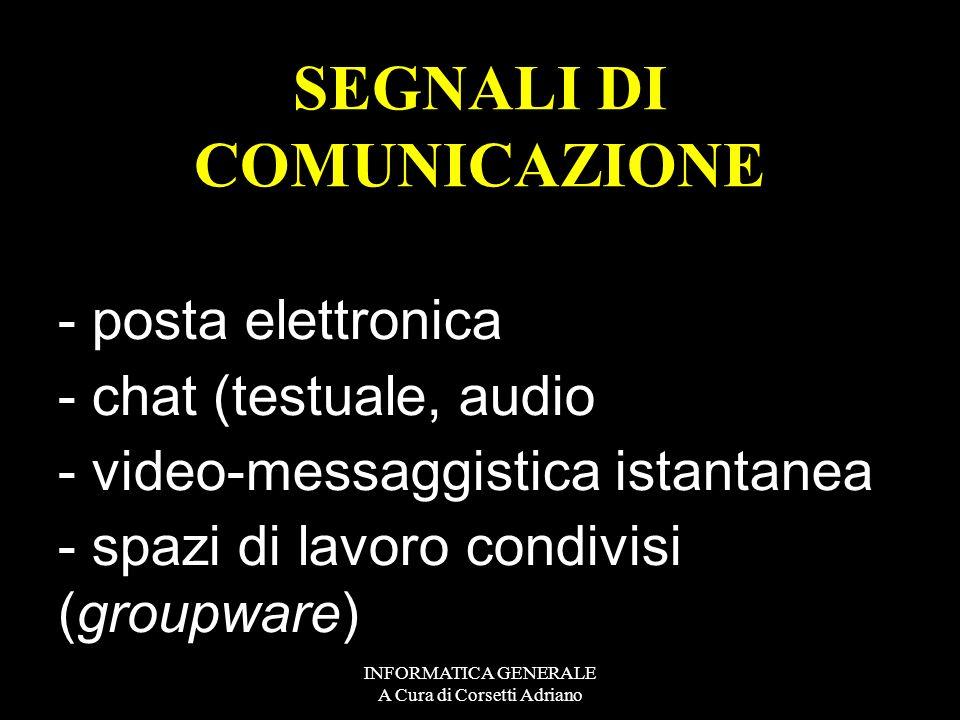 SEGNALI DI COMUNICAZIONE