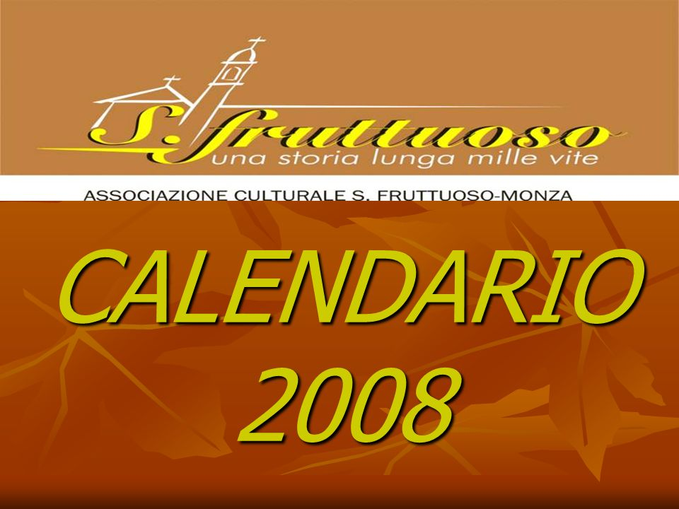 CALENDARIO 2008