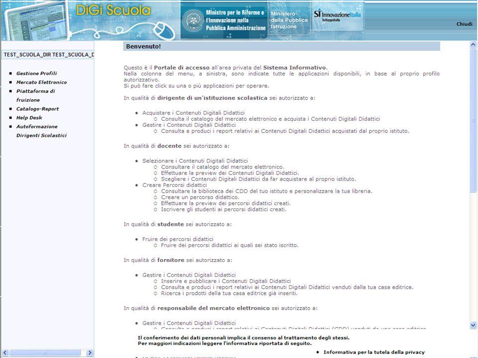 Questa e' la pagina del dirigente (il dirigente ha anche le funzionalità del docente)