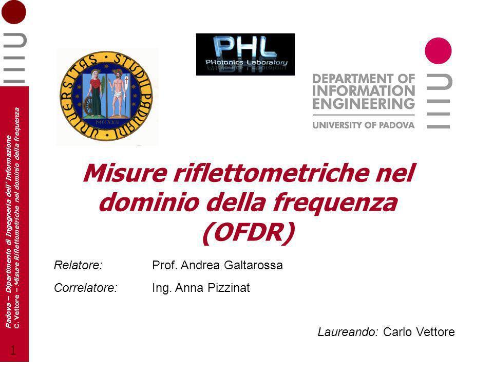 Misure riflettometriche nel dominio della frequenza (OFDR)