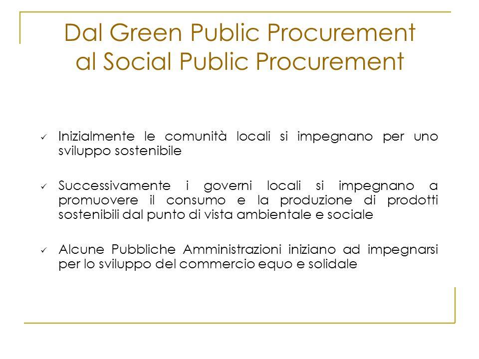 Dal Green Public Procurement al Social Public Procurement