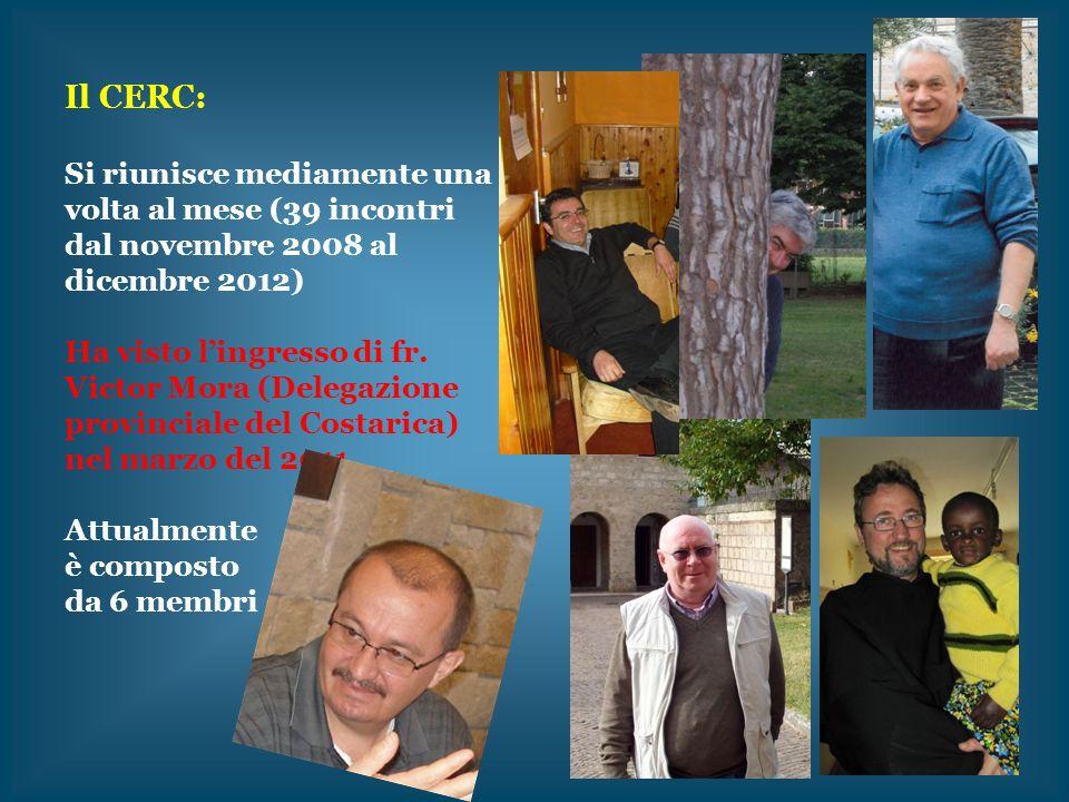 Il CERC: Si riunisce mediamente una volta al mese (39 incontri dal novembre 2008 al dicembre 2012)
