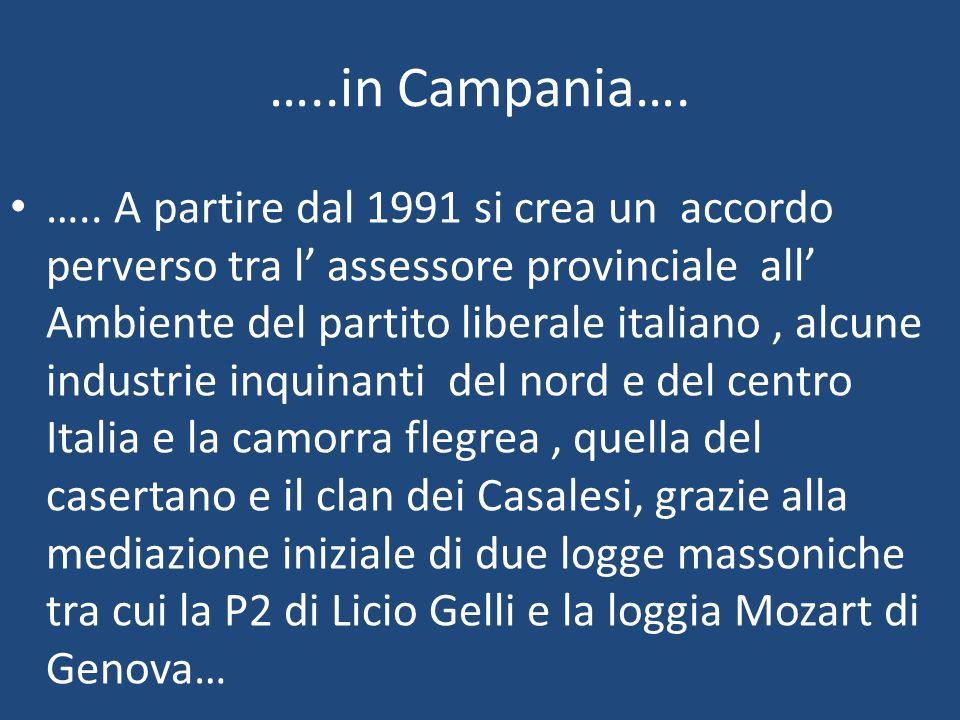 …..in Campania….