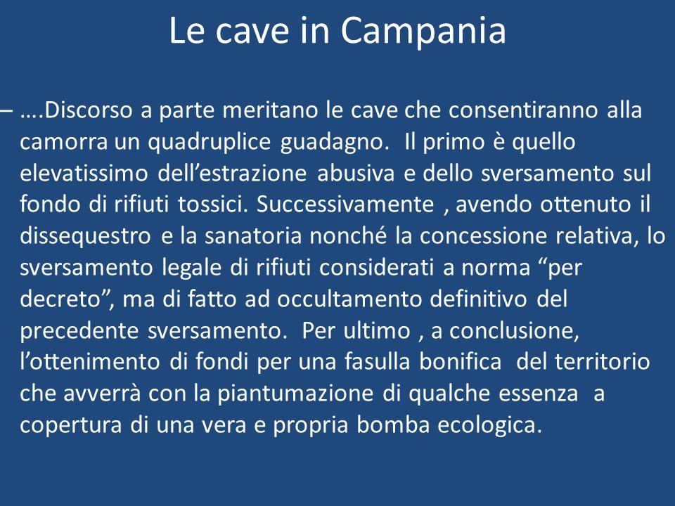 Le cave in Campania
