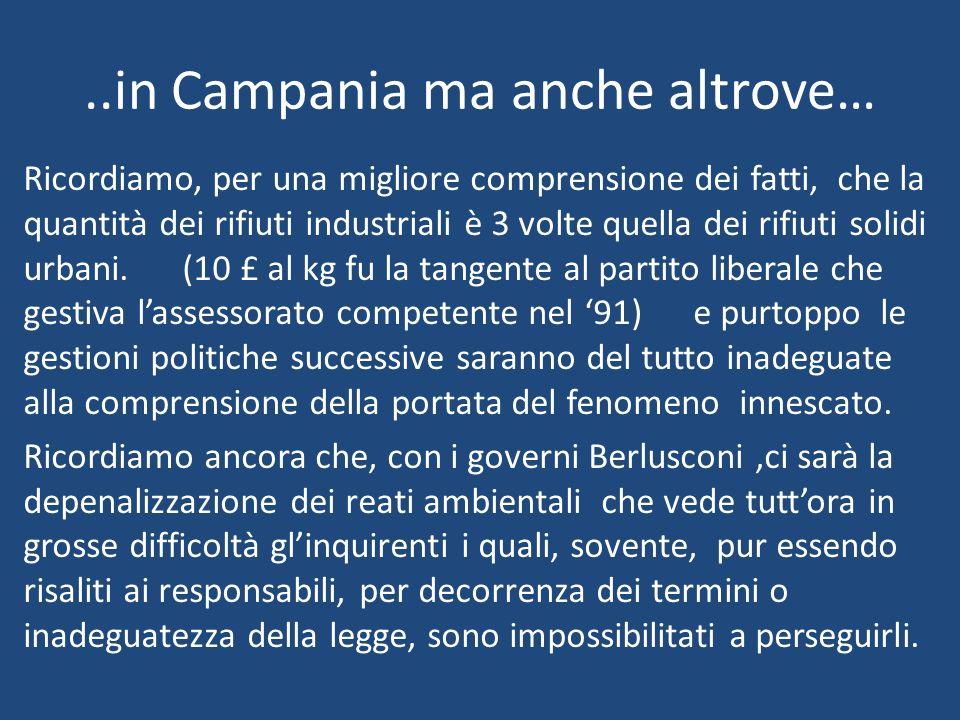 ..in Campania ma anche altrove…