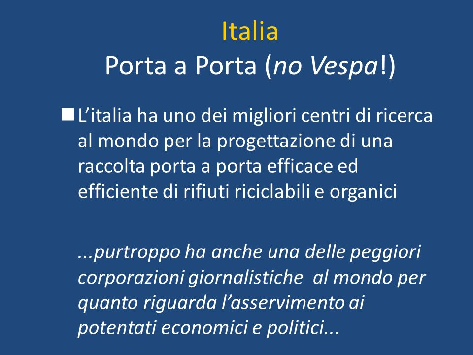 Italia Porta a Porta (no Vespa!)