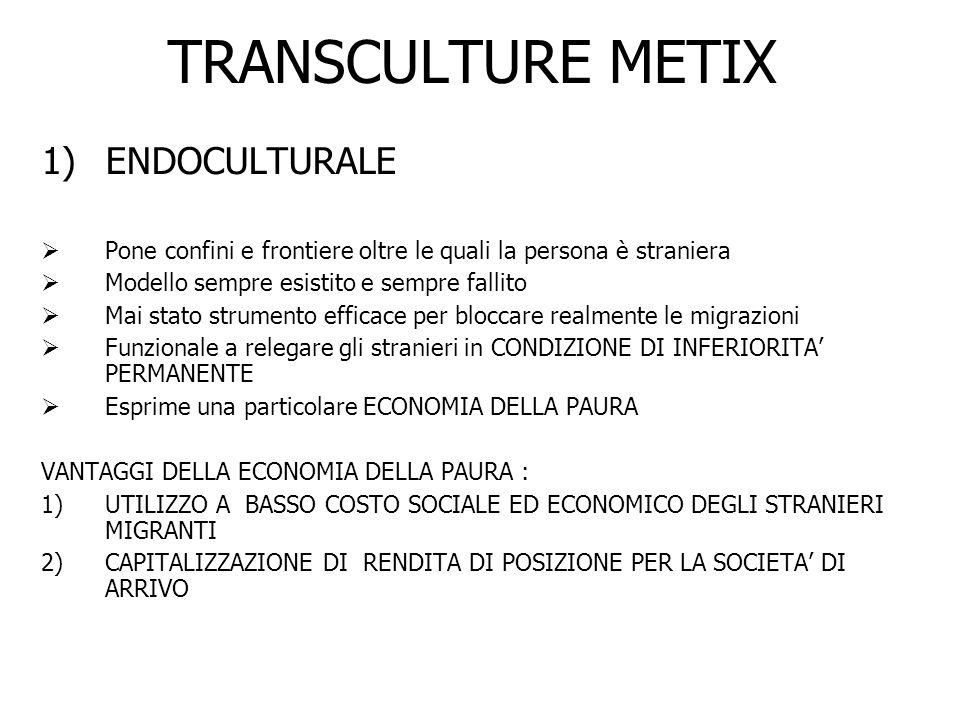 TRANSCULTURE METIX ENDOCULTURALE