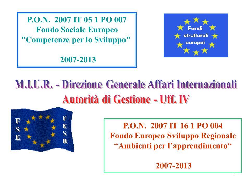 M.I.U.R. - Direzione Generale Affari Internazionali