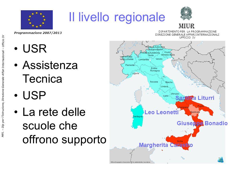 Il livello regionale USR Assistenza Tecnica USP