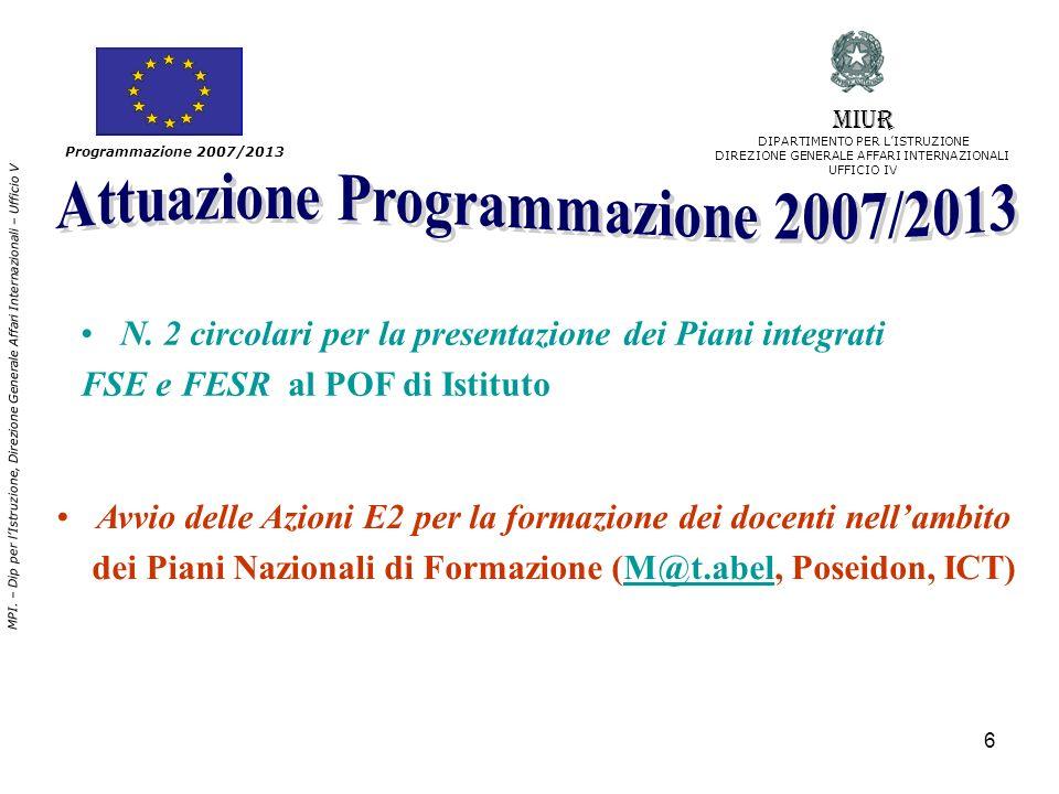 Attuazione Programmazione 2007/2013
