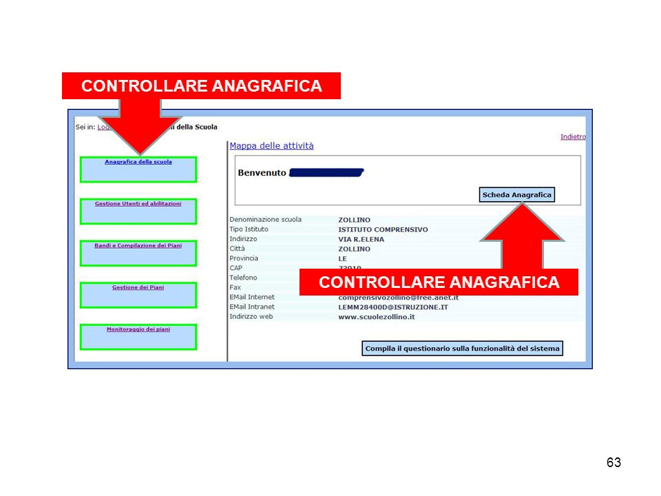CONTROLLARE ANAGRAFICA CONTROLLARE ANAGRAFICA
