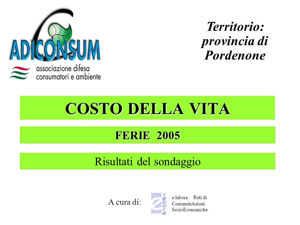 Territorio: provincia di Pordenone