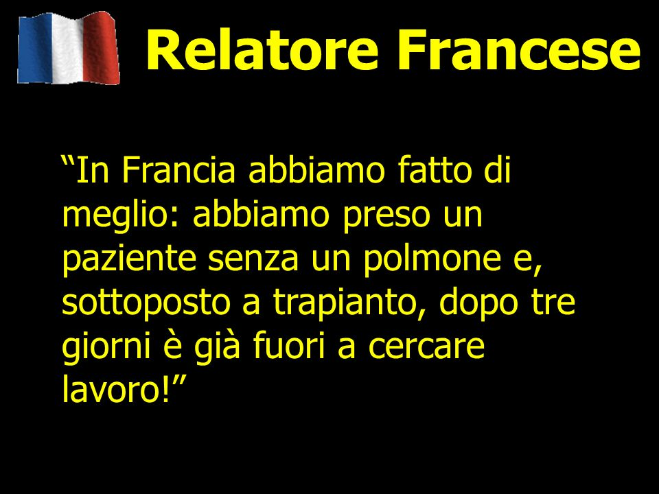 Relatore Francese