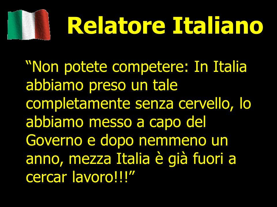 Relatore Italiano
