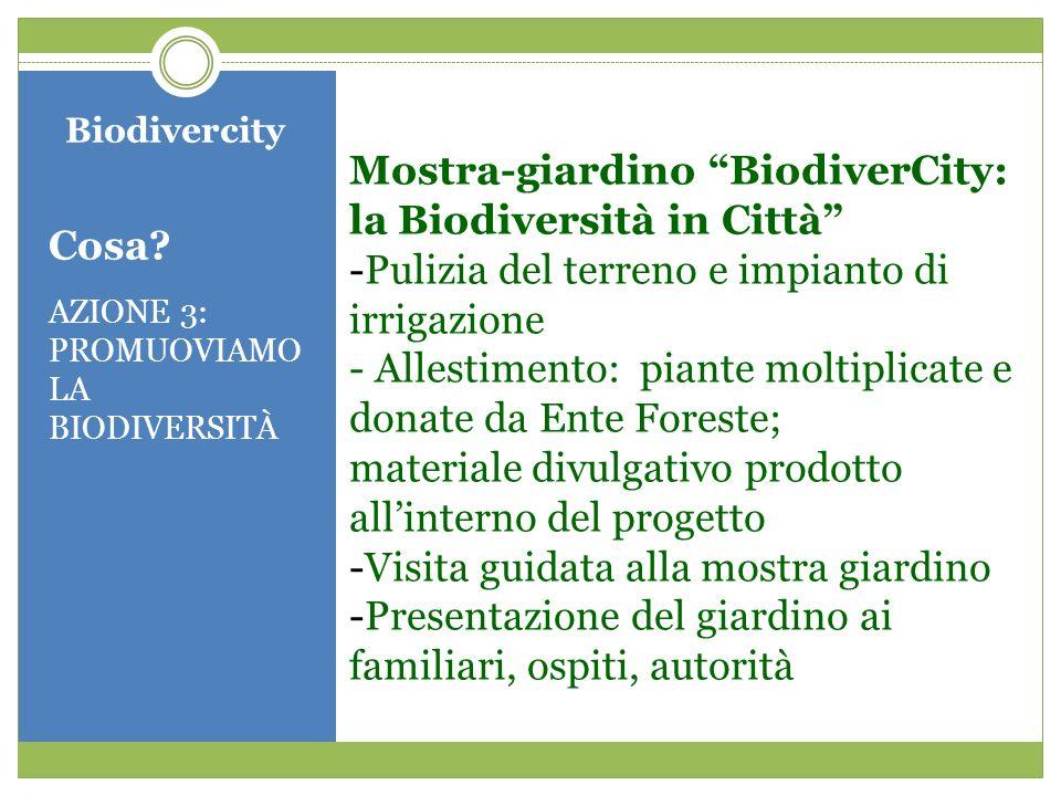 Mostra-giardino BiodiverCity: la Biodiversità in Città