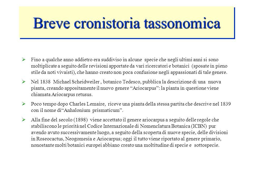 Breve cronistoria tassonomica