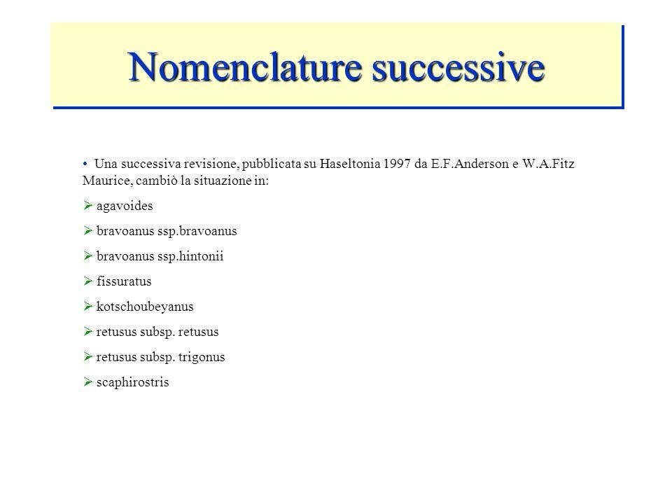 Nomenclature successive
