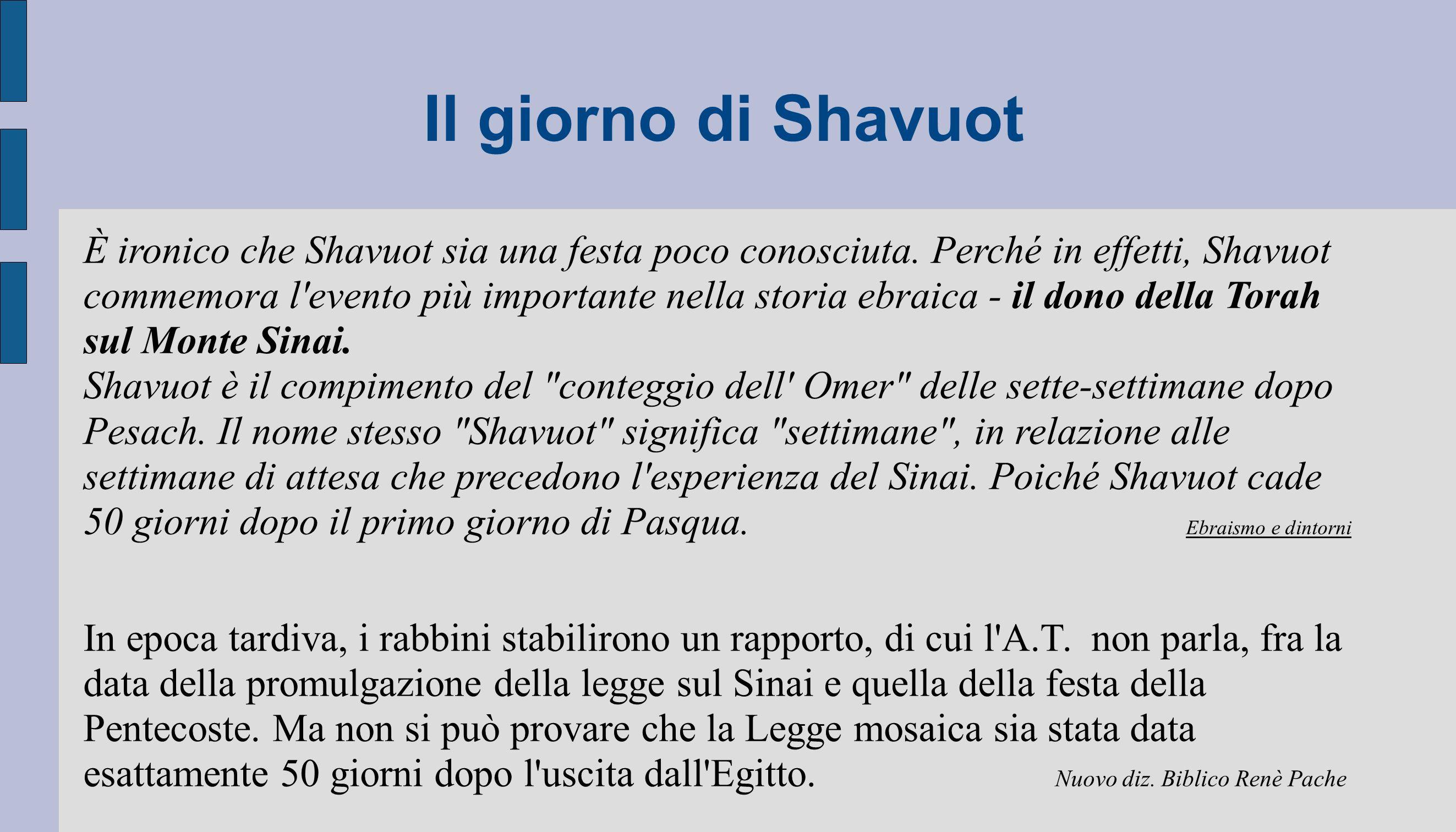 Il giorno di Shavuot