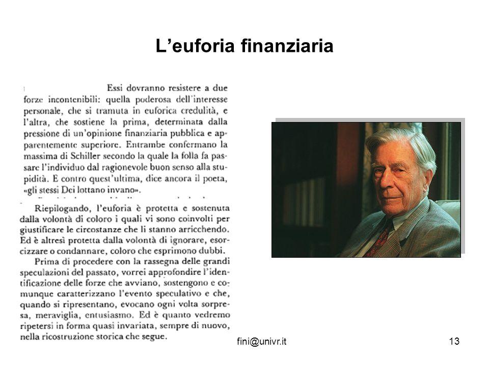 L'euforia finanziaria