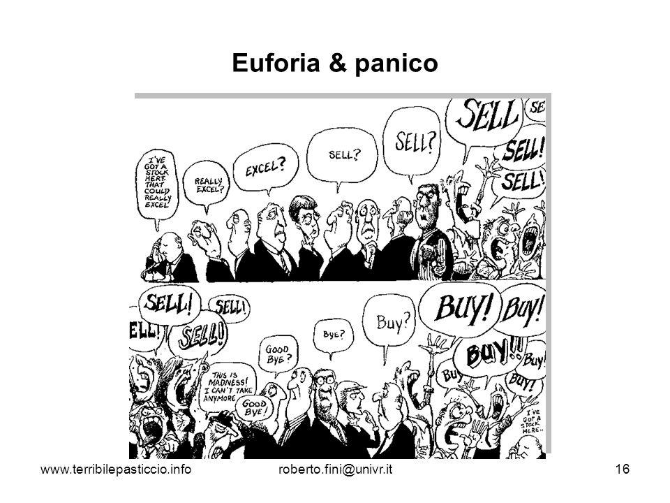 Euforia & panico www.terribilepasticcio.info roberto.fini@univr.it