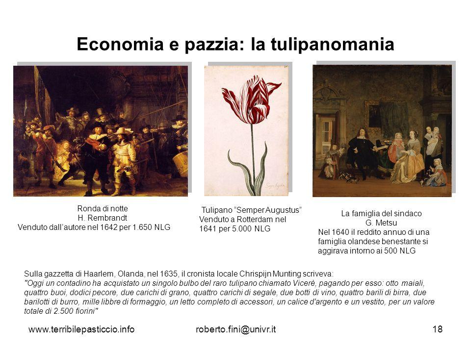 Economia e pazzia: la tulipanomania