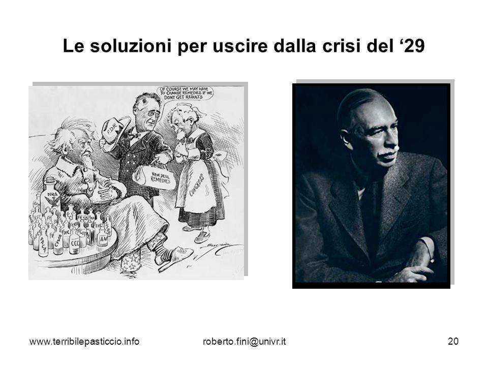 Le soluzioni per uscire dalla crisi del '29
