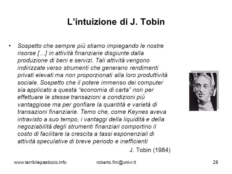 L'intuizione di J. Tobin