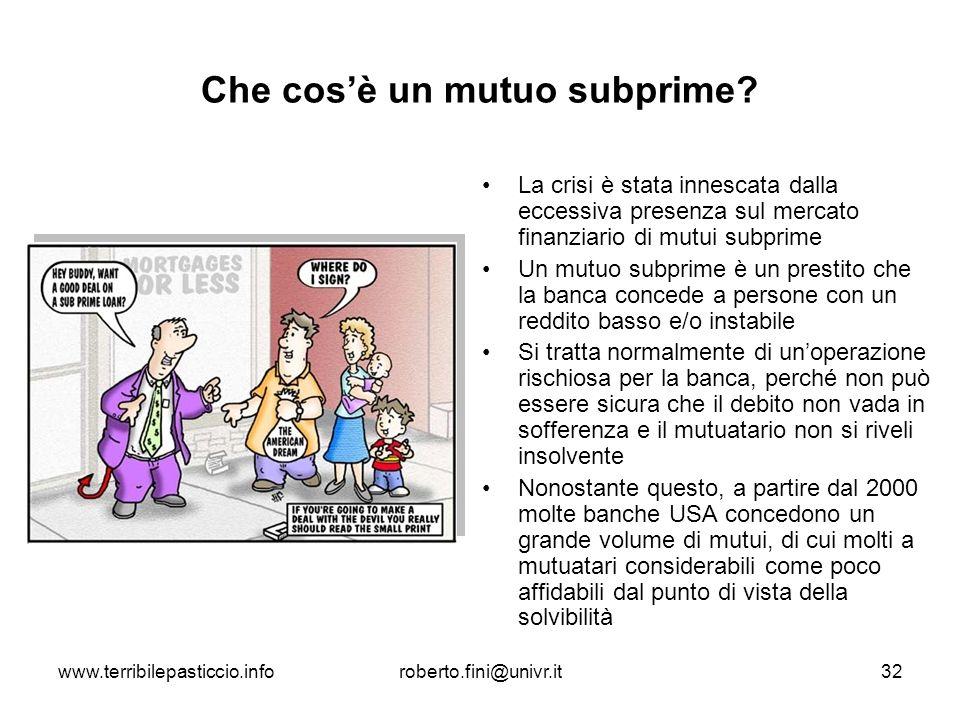 Che cos'è un mutuo subprime