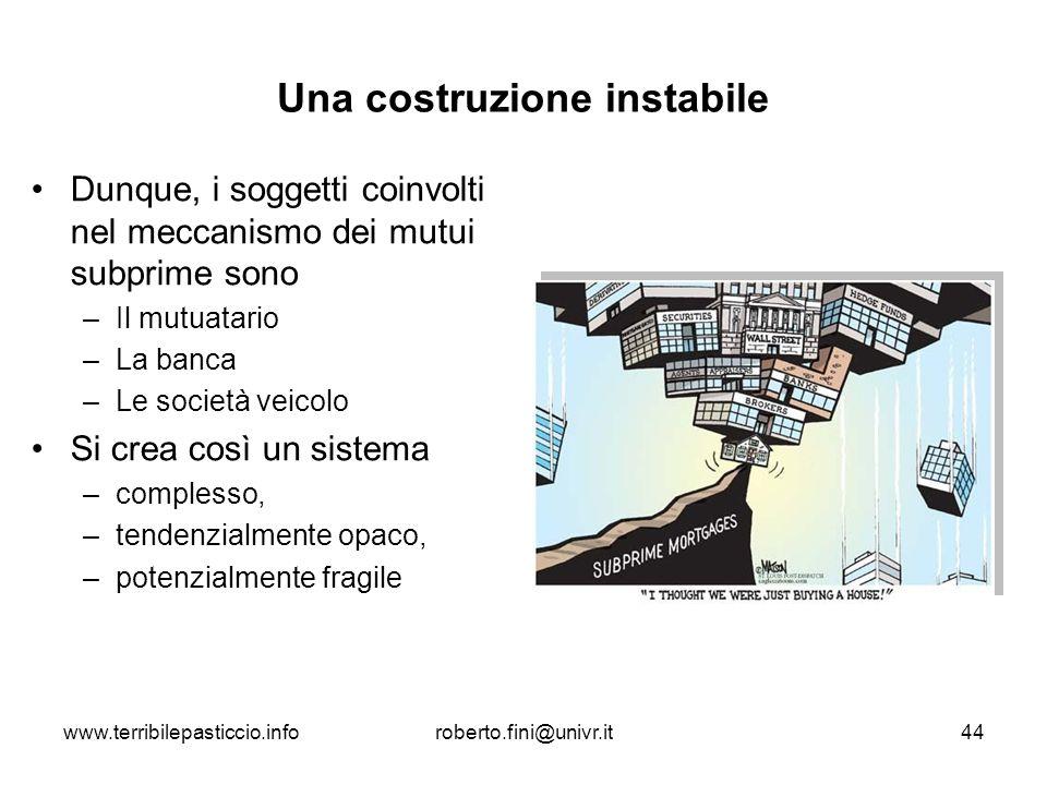 Una costruzione instabile