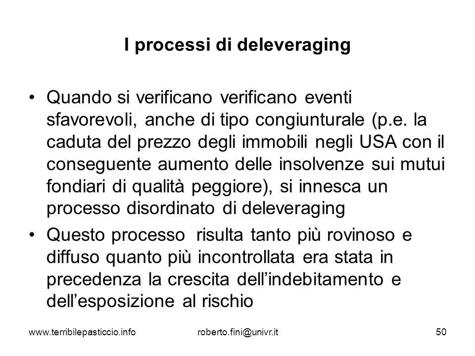 I processi di deleveraging
