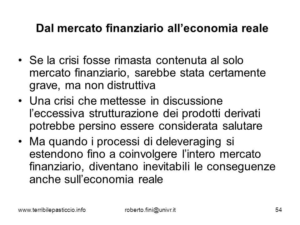 Dal mercato finanziario all'economia reale