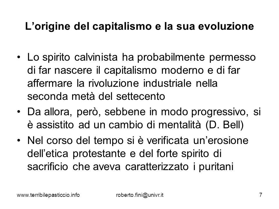 L'origine del capitalismo e la sua evoluzione