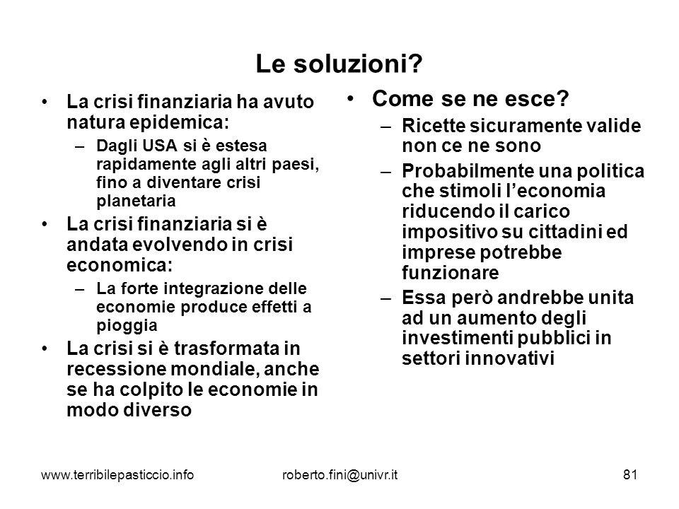 Le soluzioni Come se ne esce
