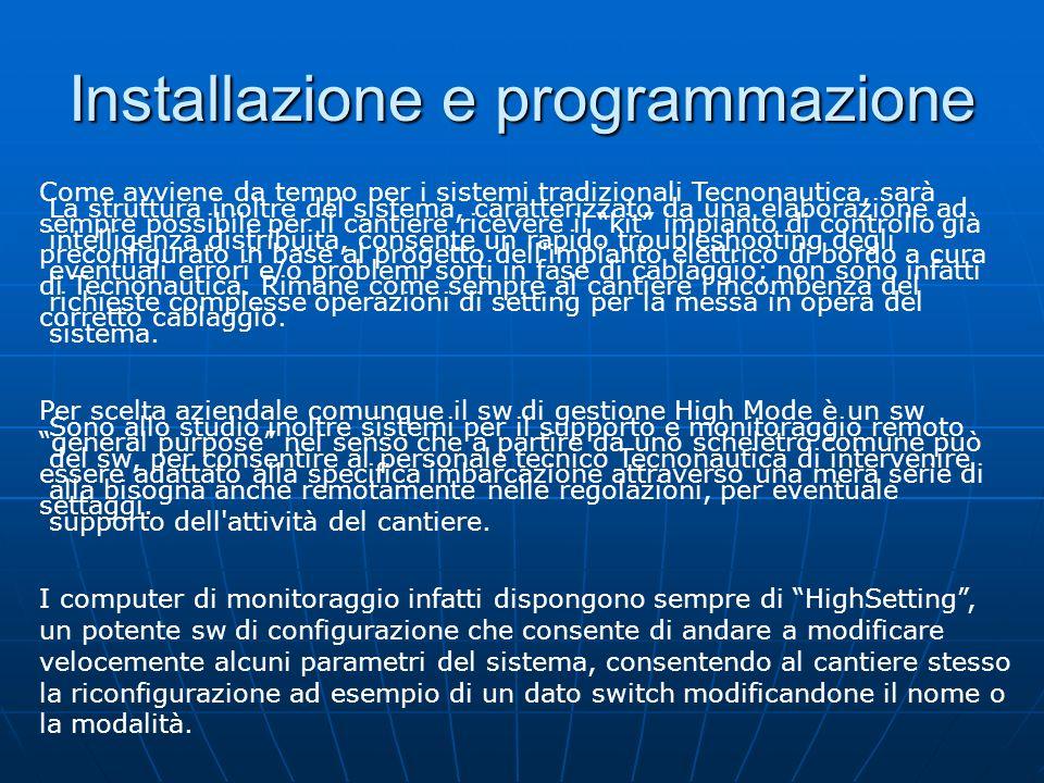 Installazione e programmazione