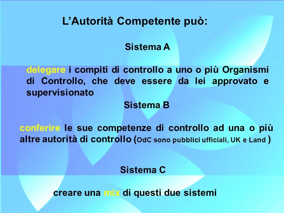 L'Autorità Competente può: