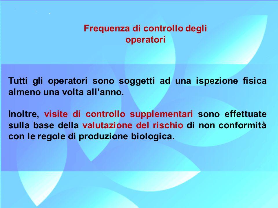 Frequenza di controllo degli operatori