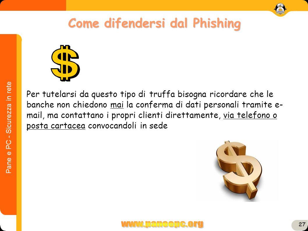 Come difendersi dal Phishing