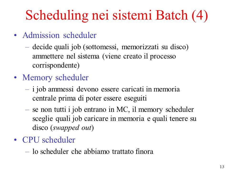 Scheduling nei sistemi Batch (4)