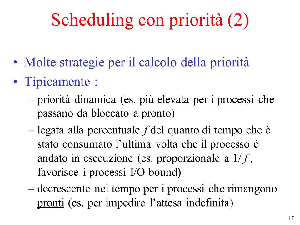 Scheduling con priorità (2)