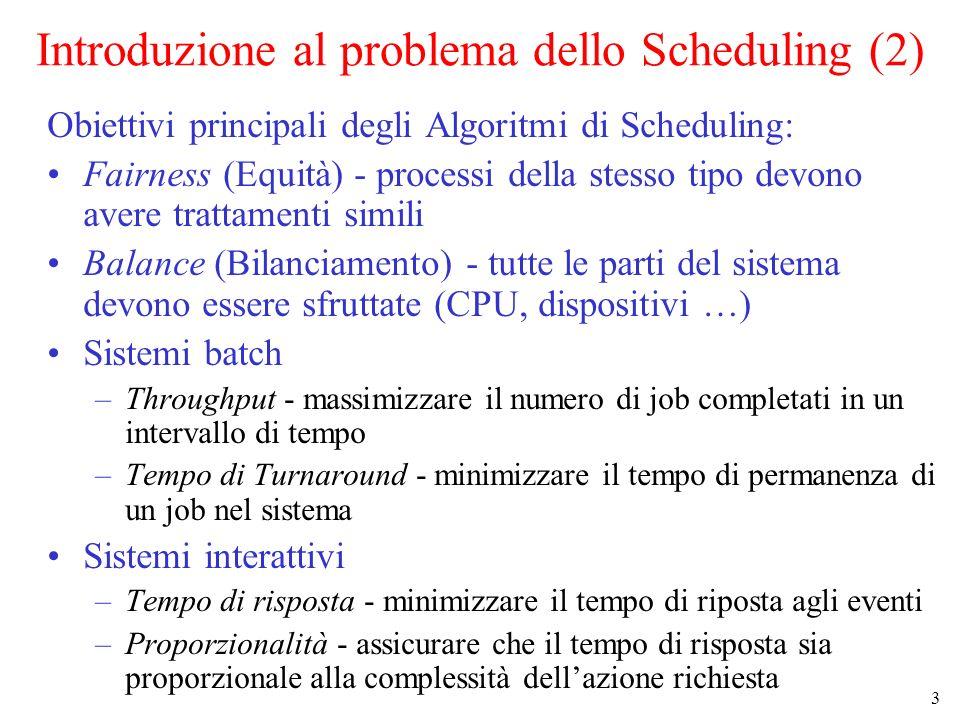 Introduzione al problema dello Scheduling (2)